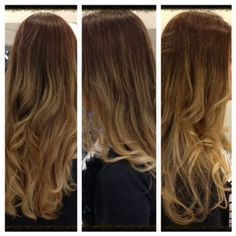 Subtle ombre with loose waves by Alisa Owen.