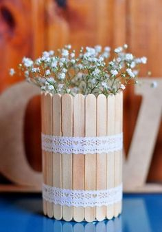 Unfinished Wood Popsicle Sticks - Popsicle Sticks and Fan Sticks - Wood Crafts - Hobby - Craft Supplies Home Crafts, Diy Home Decor, Diy And Crafts, Crafts For Kids, Handmade Crafts, Handmade Ideas, Popsicle Crafts, Craft Stick Crafts, Deco Floral