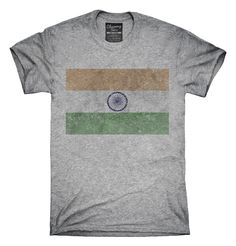 Retro Vintage India Flag T-Shirts, Hoodies, Tank Tops