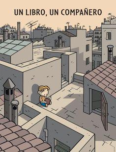 Un libro, un compañero (ilustración de Max)