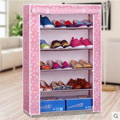 PN fábrica FUJIAN nuevo zapato cubierta simple no tejido armario 5 niveles organizador casa zapatero de acero a prueba de agua