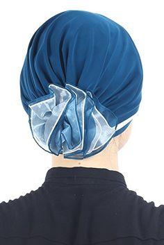 Coiffe Chic Rembourrée et Pliée avec Fleur en Chiffon à l'arrière pour Perte de Cheveux, Chimio, Cancer (Beige/Marron): Amazon.fr: Vêtements et accessoires