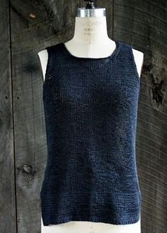 Ravelry: Notched Hem Tank Top pattern. Hoo, boy - something to do with the Tahki ribbon yarn I've got stashed.