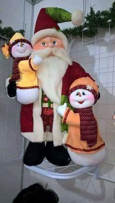 santa Beaded Christmas Ornaments, Felt Christmas, Christmas 2016, Vintage Christmas, Christmas Stockings, Christmas Crafts, Christmas Decorations, Xmas, Holiday Decor
