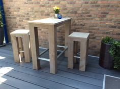 Table, Design, Furniture, Home Decor, Counter Height Stools, Pipes, Decoration Home, Room Decor