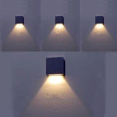 Modern Style Multi Light Color 3W Led Wall Lamp Silver Aluminum 60*60*12mm Led Stair Lighting Wall Sconce WWL030 #Affiliate