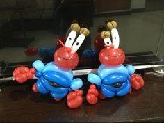 造型氣球 蟹老闆 Mr. Krab crab balloon twisting - YouTube