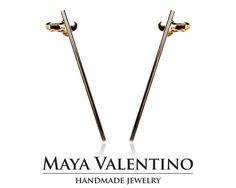 Ear cuff ear climber warp earring Gold ear by MayaValentino Prom Jewelry, Jewelry Model, Climbing Earrings, Cuff Earrings, Selling Jewelry, Designer Earrings, Jewelry Trends, Ear Piercings, Gifts For Her