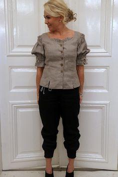 Pellavahousut BODY SHAPE, Musta - Pellavahousut - By Pia's Design