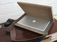 CORRUGATED CARDBOARD LAPTOP CASE Need one for me!