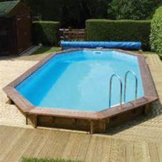 Swimmer Wooden Above Ground Swimming Pool Kit (Rectangular Pool)