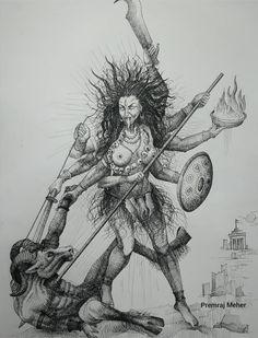 Arte Shiva, Shiva Art, Hindu Art, Durga Painting, Lord Shiva Painting, Kali Picture, Easy Scenery Drawing, Indiana, Devin Art
