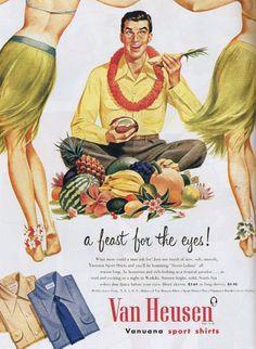 vintage mens clothing ads | Vintage ads for Van Heusen mens shirts, 1950s -