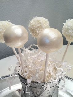 Wedding Cake Pop Favors Frost the Cake. $22.00, via Etsy.