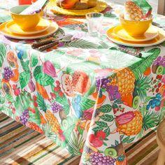 Nappe et Serviette Fruits Tropicaux | ZARA HOME France