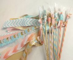 12 Boho Tribal Feather Wands Eclectic Wedding by AlteredEcoDesigns