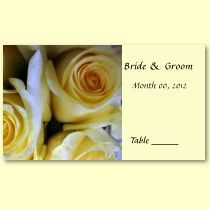 Yellow Rose Wedding Reception Place Cards