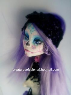 Custom monster high spectra catrina, creatures of selene - demonyart