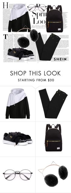 """""""Untitled #119"""" by erna-pozderovic ❤ liked on Polyvore featuring H&M, Oris, Yves Saint Laurent, Puma, Herschel Supply Co. and LC Lauren Conrad"""