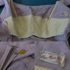 Boned bust of 1950s Rose Marie Reed swimsuit