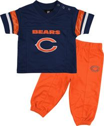 Chicago Bears Toddler Football Jersey and Pant Set - Navy Blue