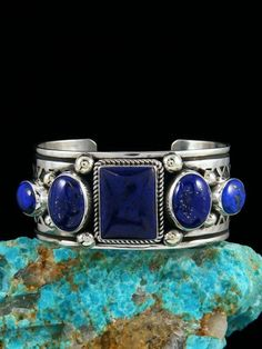 Shop our wide selection of one of a kind Native American Indian cuff and link bracelets for men and women featuring natural turquoise, coral, lapis, spiny oy. Lapis Lazuli Jewelry, Dolphin Jewelry, Fine Jewelry, Unique Jewelry, Chanel, American Indian Jewelry, Turquoise Cuff, Silver Diamonds, Boho