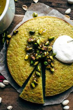 Easy Pistachio Cake Recipe From Scratch make delicious recipes. Eat in the kitchen easily and quickl Pistachio Cake Recipe From Scratch, Pistachio Recipes, Cake Recipes From Scratch, Easy Cake Recipes, Sweet Recipes, Pistachio Cupcakes, Vegan Pistachio Cake, Pistachio Dessert, Beaux Desserts