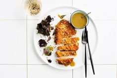 Chicken katsu with curry sauce - Matt Moran Beef Rib Roast, Beef Ribs, Light Recipes, Clean Recipes, Sauce Recipes, Chicken Recipes, Curry Recipes, Healthy Cooking, Cooking Recipes