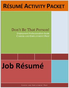 Job resume lesson helps students understand the basics of employment resumes using real-life examples, questions, and do's and dont's activities. Great for CTE,  business, life skills, vocational, and work skills students. Lesson includes a short reading selection, do's and don'ts checklist ,multiple choice questions, true/false questions, short answer questions, crossword puzzle,and brainstorming activity. Use as a supplemental teaching tool for student job seekers.