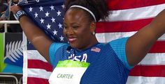 Michelle Carter wins USA's Olympic Shot Put GOLD! Via pretty pRHOfound · == daughter of Michael Carter- NFL player, Silver Medalist! Rio Olympics 2016, Summer Olympics, Black Girls Rock, Black Girl Magic, Michelle Carter, Olympic Gold Medals, Code Black, Rio 2016, Rio De Janeiro