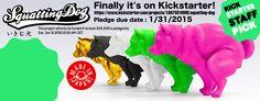 Squatting Dog ~ いきむ犬 ~ Kickstarter banner