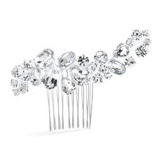 Bold Crystal Cluster Wedding Bridal, Special Occasion Comb -- Learn more by visiting the image link.