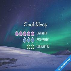 Blend Recipe: 5 drops Lavender, 3 drops Peppermint, 2 drops Eucalyptus #aromatherapysleepblends