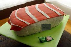 Coco Cake Cupcakes--Vancouver BC by Lyndsay Sung: Salmon Nigiri Birthday Cake!