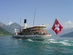 All boat, rail & cable car journeys are included (c) Eva Kurmann/Luzern Tourismus. Lake Lucerne Switzerland, Walking Holiday, Hiking, Journey, Cable, City, Travel, Boats, Transportation