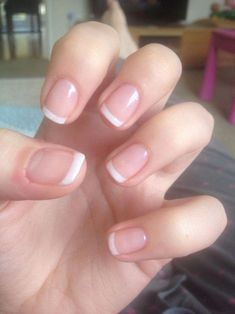 Want some ideas for wedding nail polish designs? This article is a collection of our favorite nail polish designs for your special day. Shellac French Manicure, Shellac Gel Polish, French Manicure Designs, Manicure Colors, Nail Polish Designs, Manicure Ideas, Nails Design, Short Nails Shellac, Clear Gel Nails