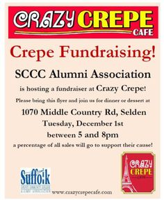 Crazy Crepe Fundrasier 2015-12-1