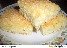 Buchta Rafaelo recept - TopRecepty.cz Czech Recipes, Ethnic Recipes, Eastern European Recipes, No Bake Pies, Thing 1, Cornbread, Vanilla Cake, Sweet Recipes, Food And Drink