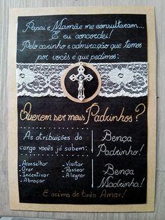 Convite Batizado Padrinhos : encomendas por R$ 50,00