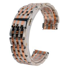 >> Click to Buy <<  20mm 22mm Watch Band Rose Gold & Silver Soild Stainless Steel Watchband Wrist Watch Replace Band Hidden Clasp + 2 Spring Bars #Affiliate