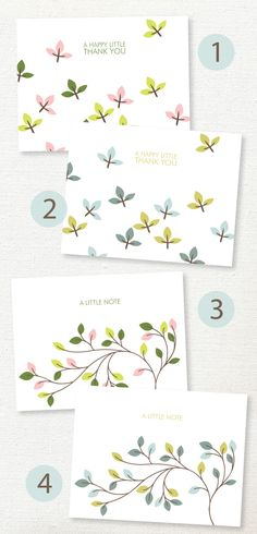 FREE printable thank-you Cards