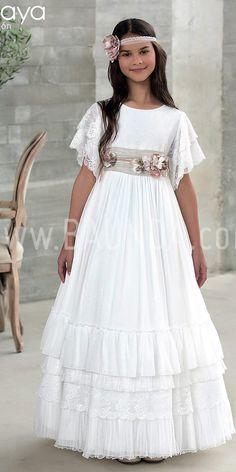 Girls Formal Dresses, Lovely Dresses, Flower Girl Dresses, Wedding Dresses, Holy Communion Dresses, Première Communion, Wedding Headdress, Fantasy Dress, Kids Outfits