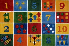 Fun Rugs TSC-232 3958 Supreme Collection Number Blocks Multi-Color - 39 x 58 in.