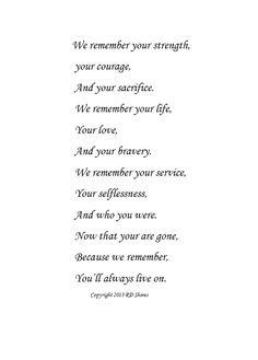 Because We Remember.