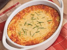 The tasty side dish takes a quicker approach to classic corn pudding. You'll love the cheesy Parmesan twist.Why We Love Your WayUses less dairy and eggsFast prep timeBaked cheese topRecipe: Parmesan Corn Pudding Frozen Corn Recipes, Corn Pudding Recipes, Casserole Recipes, Vegetable Recipes, Corn Casserole, Pudding Corn, Suet Pudding, Figgy Pudding, Butterscotch Pudding