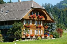 Traditional architecture in Bern, Switzerland agricultural country side