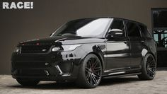 Blacked-out Range Rover Sport SVR by RACE! Read more http://tagmyride.mobi/blacked-out-range-rover-sport-svr-by-race/ #tagmyride #automotive #cars #motor