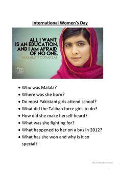 Reading Comprehension - Malala Yousafzi worksheet - Free ESL printable worksheets made by teachers