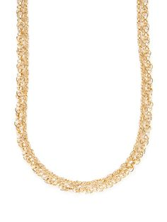 Gold Layered Station Necklace by Ava