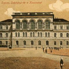 Sopron, Széchenyi tér a Kassinoval Louvre, Park, Building, Travel, Hungary, Viajes, Buildings, Parks, Destinations